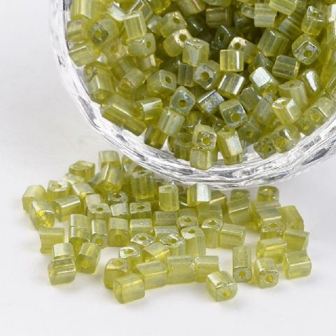 Seed Beads Cube - 6/0 - Olive Pearl - 50g